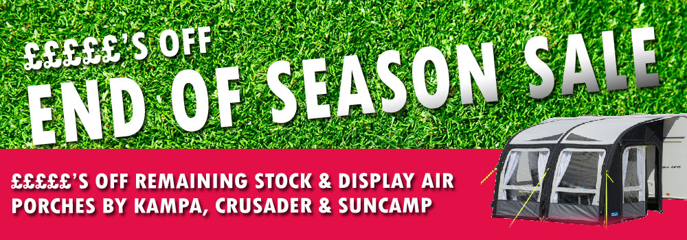 End of season accessory sale - Ryedale Caravan and Leisure
