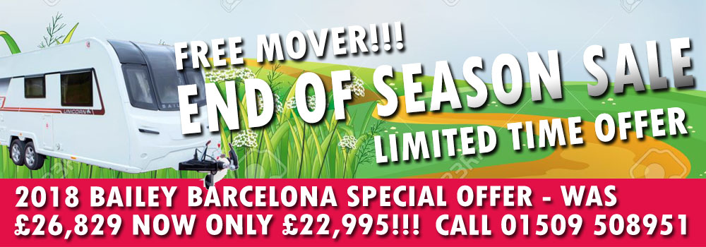End of Season Sale - Ryedale Caravan & Leisure