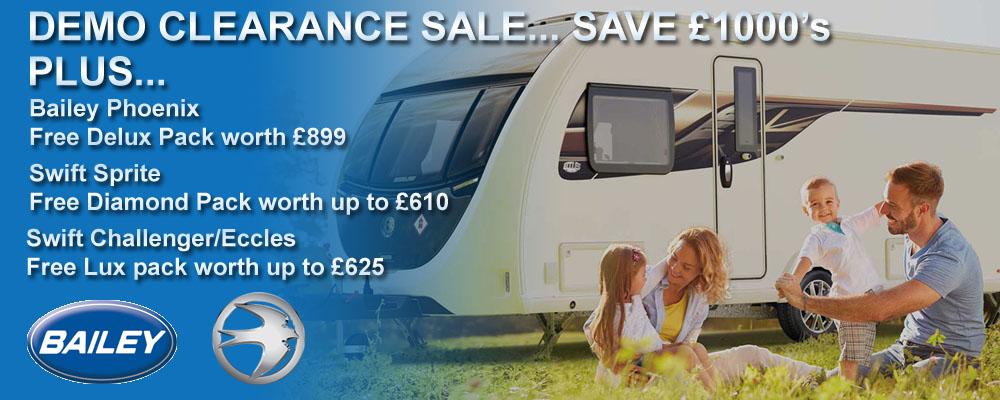 Swift & Bailey May Demo Clearance Sale - Ryedale Caravan & Leisure