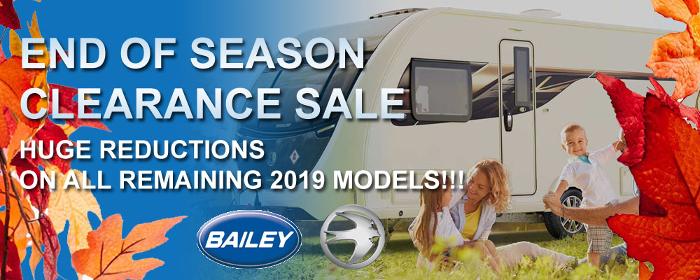 End of Season Sale 2019 - Bailey & Swift Range - Ryedale Caravan & Leisure
