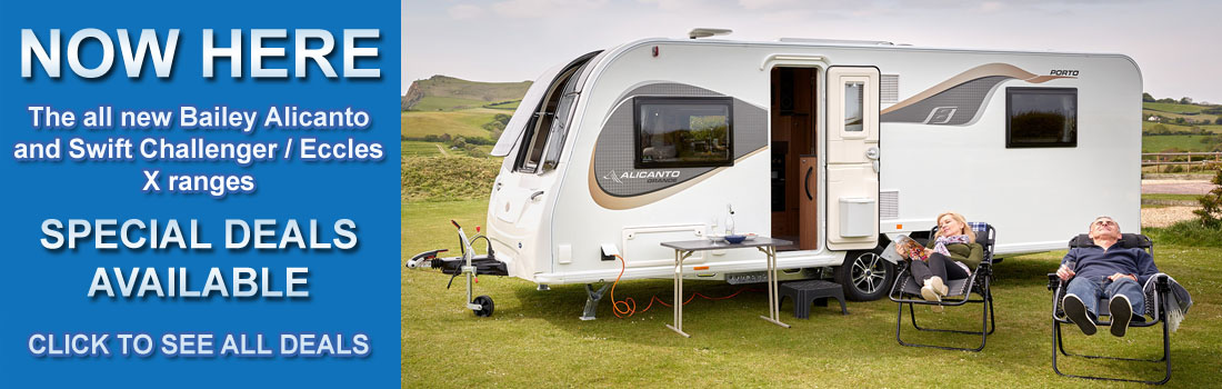 Now here, The all new Bailey Alicanto and Swift Challenger/Eccles X ranges. Special promotional deals available